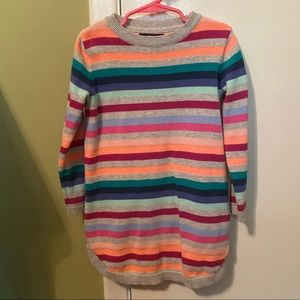 Cute striped tunic length sweater - EUC